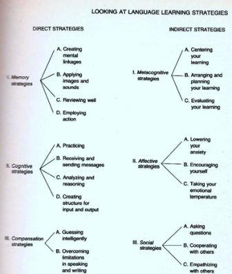 Types of learning strategies how to cope with a foreign language source oxford rebecca l 1990 language learning strategies what every teacher should know heinleheinle boston usa p 17 ccuart Images